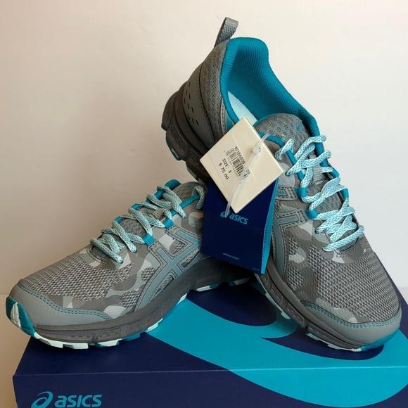Asics Shoes - Asics Gel Scram 4 Mid Grey Lagoon Laceup Sneakers